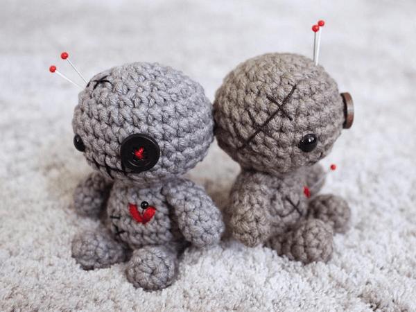 Mini Voodoo Doll Crochet Pattern by I Dream Of Yarn Shop