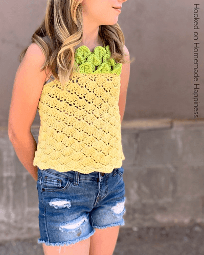 Pineapple Crochet Top Pattern by Hooked On Homemade Happiness
