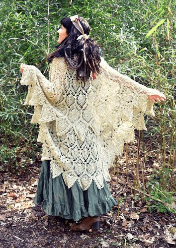 Pineapple Crochet Wrap Pattern by Morale Fiber