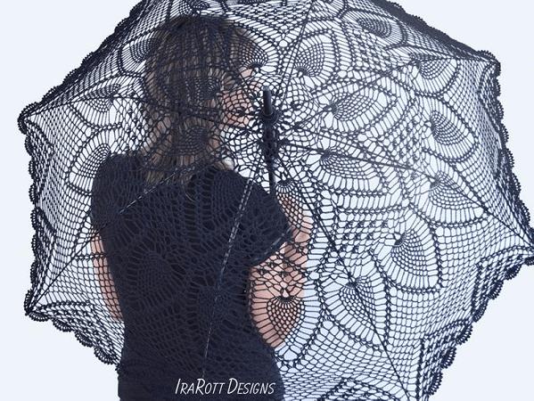 Pineapple Lace Parasol Crochet Pattern by Ira Rott Patterns