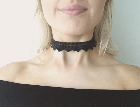 Queen Choker Crochet Pattern by Kate Polizzi
