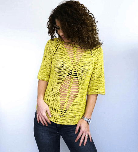 Raglan Boho Top Crochet Pattern by By Katerina