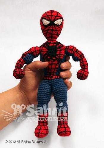 Spiderman Amigurumi Pattern by Sahrit