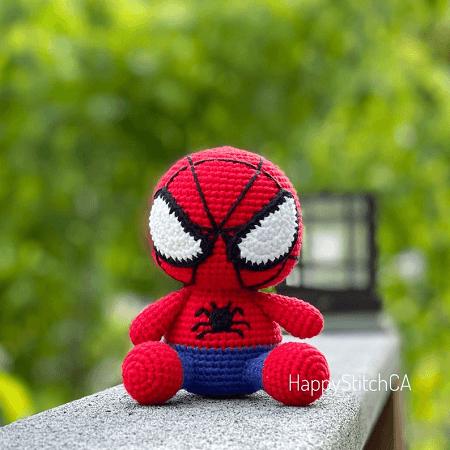 Spiderman Crochet Pattern by Happy Stitch CA