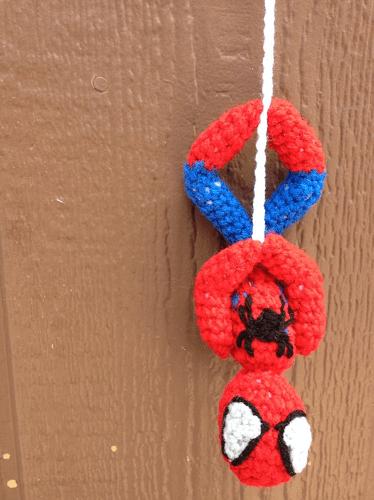 Spiderman Upside Down Amigurumi Pattern by Mon Ami Creationz