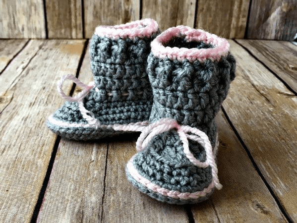Spring Free Crochet Baby Boots Pattern by Love Life Yarn