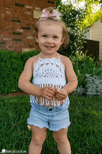 Toddler Boho Halter Top Free Crochet Pattern by Heart Hook Home
