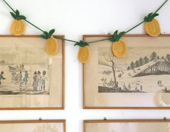 Tropical Pineapple Bunting Crochet Pattern by By Hand London