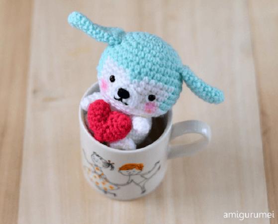 Free Puppy Amigurumi Valentine's Day Crochet by Craft Pasion