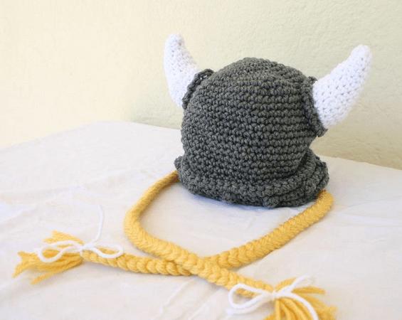 Viking Baby Hat Crochet Pattern by Loving Hands Crochet