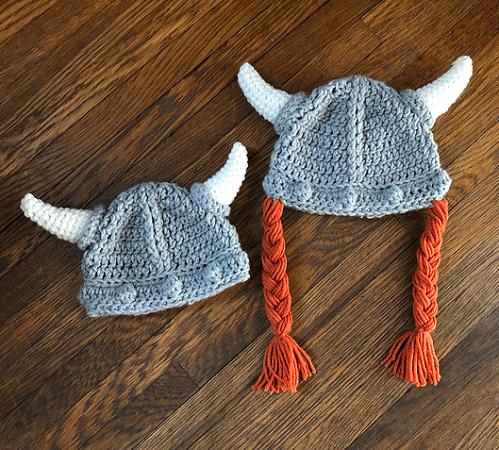 Viking Warrior Hat Crochet Pattern by DAC Crochet