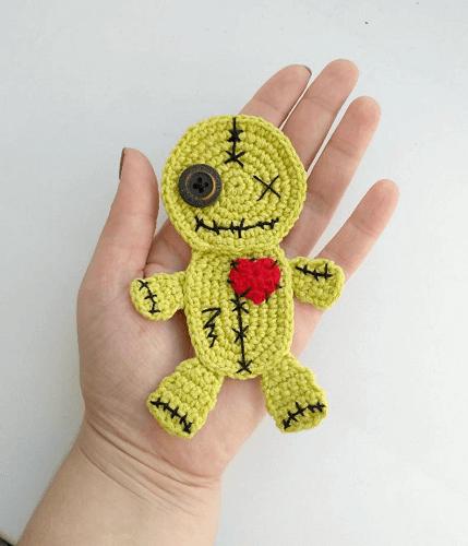 Crochet Voodoo Doll Applique Pattern by Fancy Infancy Crochet