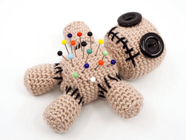 Pincushion Voodoo Doll Crochet Pattern by Supergurumi Shop