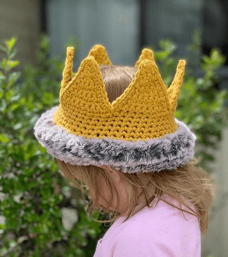 Wild Child Princess Crochet Crown Pattern by Yarndrasil