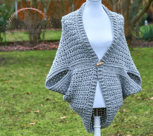 Wrap Me Tender Shrug Crochet Pattern by Yarn Hild