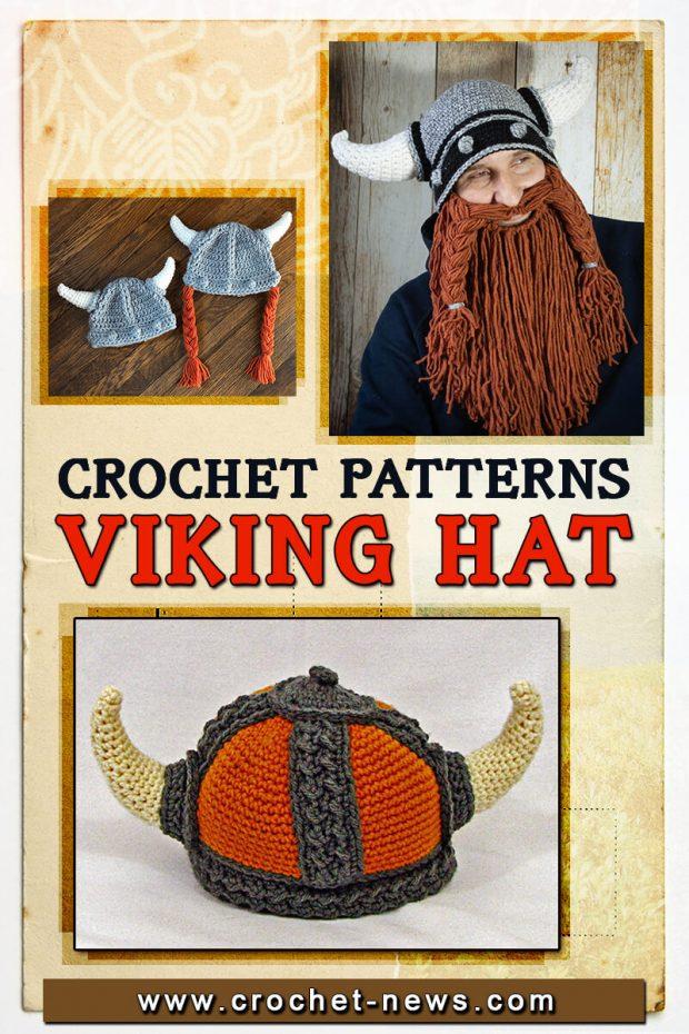 CROCHET VIKING HAT PATTERNS