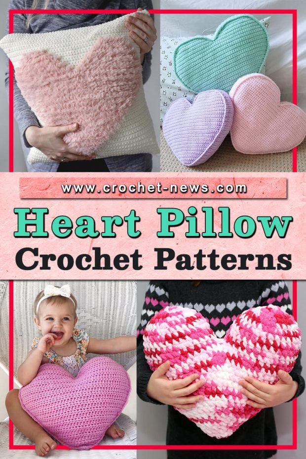 CROCHET HEART PILLOW PATTERNS
