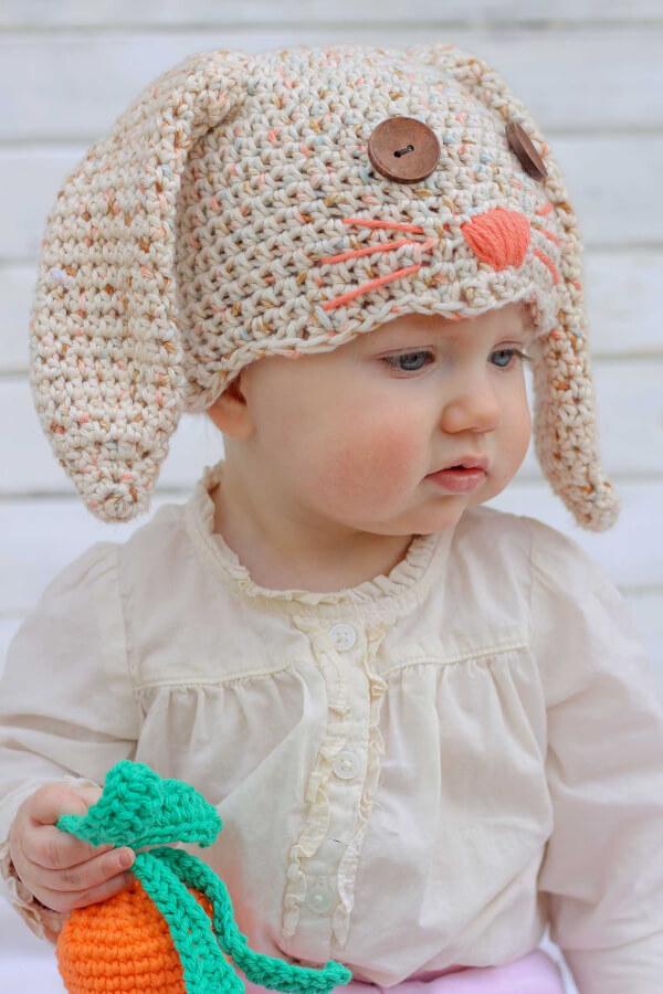 Bunny Crochet Hat Free Pattern