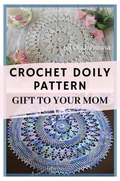 Crochet Doily Pattern by Olga Poltava