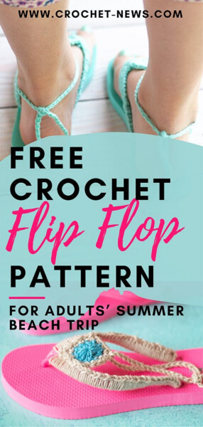 Free Crochet Flip Flop aPatterns by Bethany of Whistle and Joy