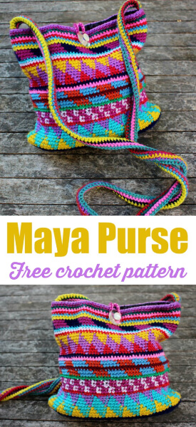 Free Crochet Purse Maya Pattern by Fabienne Chabrolin