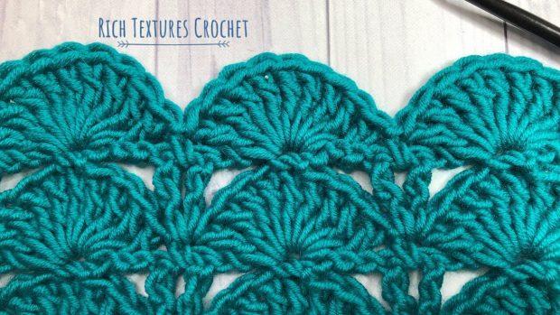 peacock fan stitch crochet tutorial
