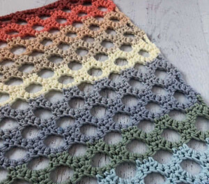 Trellis Honeycomb Crochet Stitch