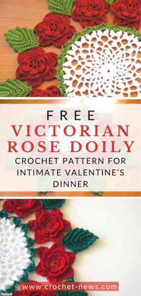 Victorian Rose Free Crochet Doily Pattern