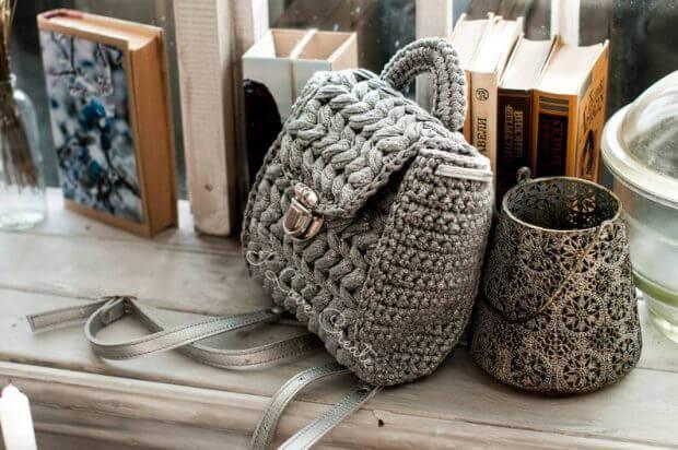 Zeffirka Crochet Boho Backpack Pattern by Olha Bilyk