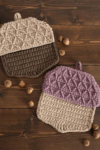 Acorn Hot Pads Crochet Pattern by I Like Crochet