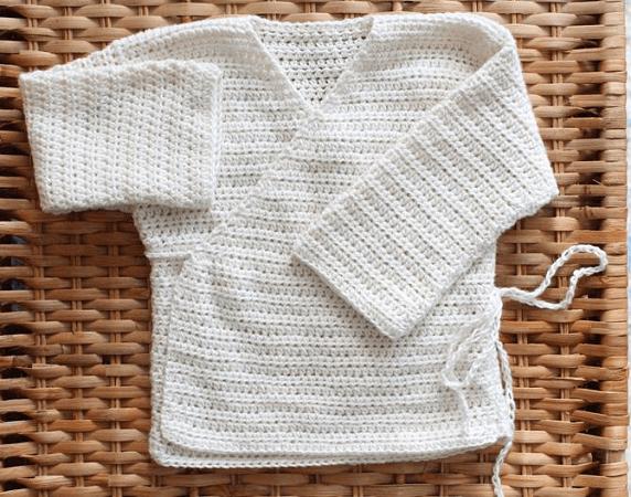Baby Kimono Crochet Pattern by Abigail Haze Designs