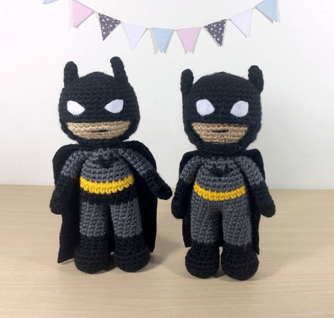Batman Amigurumi Crochet Pattern by 53 Stitches