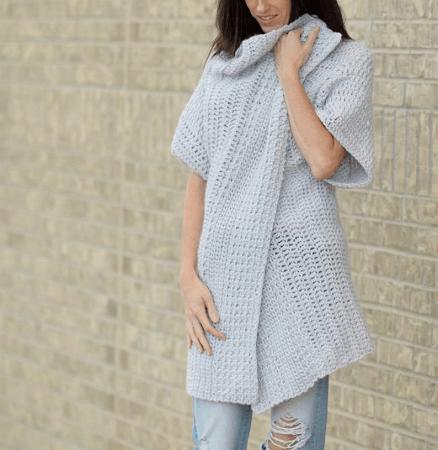 Cascading Kimono Crochet Pattern by Mama In A Stitch