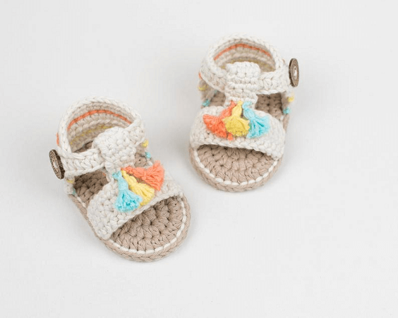 Crochet Baby Boho Sandals Pattern by Croby Patterns