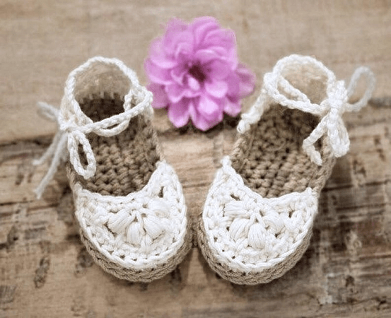 Crochet Baby Espadrille Sandals Pattern by Hand Heart And Sole
