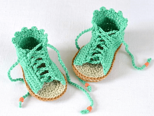 Crochet Baby Gladiator Sandals Pattern by Matilda's Meadow