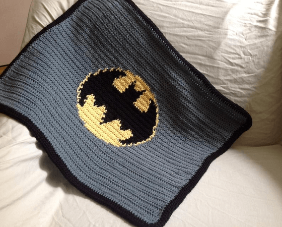 Crochet Batman Blanket Pattern by Sue Stitch