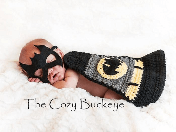Crochet Batman Costume Pattern by The Cozy Buckeye