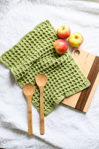 Crochet Dish Towel Pattern by Woods And Wool Shop