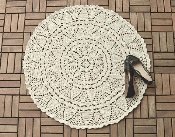 Crochet Doily Rug Pattern by Lilla Bjorn Crochet