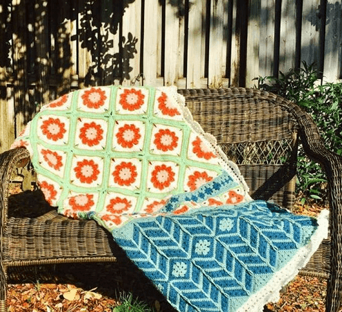Crochet Flower Baby Blanket Pattern by Cypress Textiles
