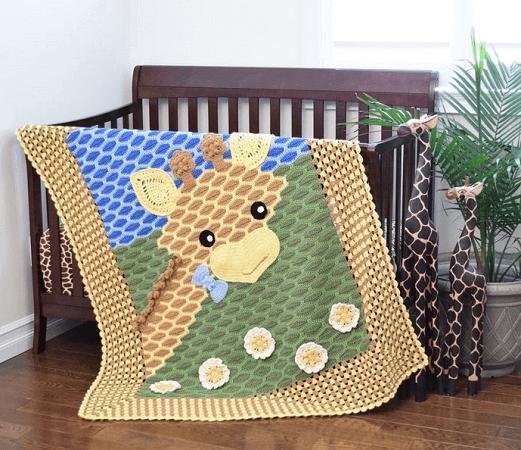 Crochet Giraffe Baby Blanket Pattern by Ira Rott Patterns