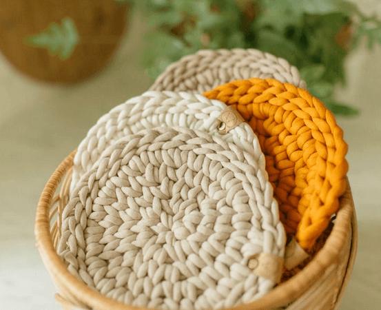 Crochet Hot Pad Pattern by Christina Ann Studios