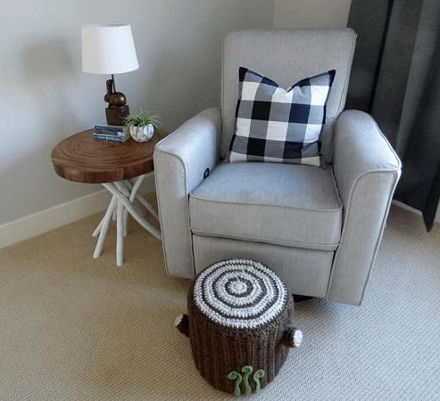 Crochet Oak Stump Ottoman Pattern by Speckless