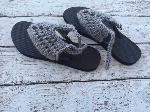 Crochet Sandals Pattern by Hooked Homemade Happy