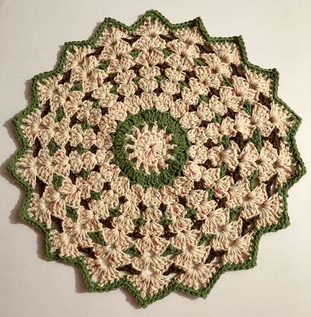 Crochet Shell Stitch Round Doily Pattern by Pattern Princess