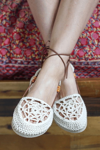 Dream Catcher Crochet Sandals Pattern by Make And Do Crew