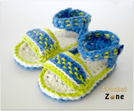 Dreamweaver Baby Sandals Crochet Pattern by Crochet Zone