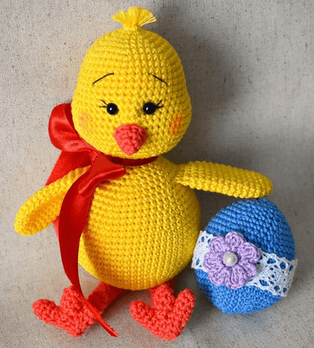 Easter Chick Amigurumi Pattern by Amiguroom Toys