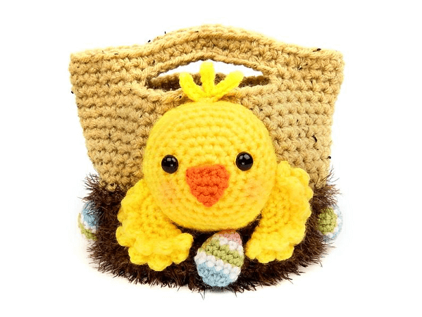 Easter Chick Treat Bags Crochet Pattern by Moji Moji Design
